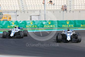 World © Octane Photographic Ltd. Formula 1 –  Abu Dhabi GP - Practice 3. Williams Martini Racing FW41 – Lance Stroll and Sergey Sirotkin. Yas Marina Circuit, Abu Dhabi. Saturday 24th November 2018.