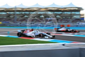 World © Octane Photographic Ltd. Formula 1 – Abu Dhabi GP - Qualifying. Alfa Romeo Sauber F1 Team C37 – Marcus Ericsson and Haas F1 Team VF-18 – Kevin Magnussen. Yas Marina Circuit, Abu Dhabi. Saturday 24th November 2018.