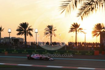 World © Octane Photographic Ltd. Formula 1 – Abu Dhabi GP - Qualifying. Racing Point Force India VJM11 - Esteban Ocon. Yas Marina Circuit, Abu Dhabi. Saturday 24th November 2018.