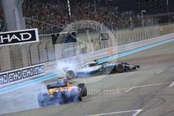 World © Octane Photographic Ltd. Formula 1 – Abu Dhabi GP - Post-race celebration. Mercedes AMG Petronas Motorsport AMG F1 W09 EQ Power+ - Lewis Hamilton and McLaren MCL33 – Fernando Alonso. Yas Marina Circuit, Abu Dhabi. Sunday 25th November 2018.
