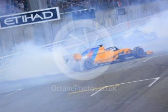 World © Octane Photographic Ltd. Formula 1 – Abu Dhabi GP - Post-race celebration. McLaren MCL33 – Fernando Alonso. Yas Marina Circuit, Abu Dhabi. Sunday 25th November 2018.