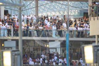World © Octane Photographic Ltd. Formula 1 –  Abu Dhabi GP - Race. Crowds in Paddock Club. Yas Marina Circuit, Abu Dhabi. Sunday 25th November 2018.