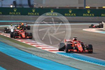 World © Octane Photographic Ltd. Formula 1 –  Abu Dhabi GP - Race. Scuderia Ferrari SF71-H – Sebastian Vettel and Kimi Raikkonen. Yas Marina Circuit, Abu Dhabi. Sunday 25th November 2018.