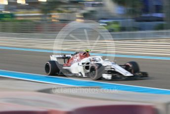 World © Octane Photographic Ltd. Formula 1 –  Abu Dhabi GP - Race. Alfa Romeo Sauber F1 Team C37 – Charles Leclerc. Yas Marina Circuit, Abu Dhabi. Sunday 25th November 2018.