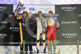 World © Octane Photographic Ltd. FIA Formula 2 (F2) – Abu Dhabi GP - Race 1. ART Grand Prix - George Russell, Russian Time - Artem Markelov and Campos Vexatec Racing - Luca Ghiotto. Yas Marina Circuit, Abu Dhabi. Saturday 24th November 2018.