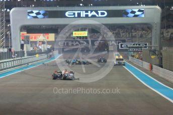 World © Octane Photographic Ltd. FIA Formula 2 (F2) – Abu Dhabi GP - Race 1. Trident - Arjun Maini stranded on track. Yas Marina Circuit, Abu Dhabi. Saturday 24th November 2018.