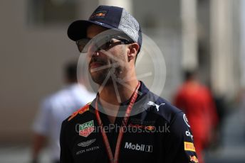 World © Octane Photographic Ltd. Formula 1 –  Abu Dhabi GP - Paddock. Aston Martin Red Bull Racing TAG Heuer RB14 – Daniel Ricciardo. Yas Marina Circuit, Abu Dhabi. Friday 23rd November 2018.