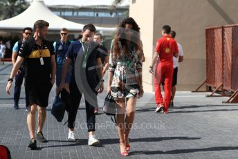 World © Octane Photographic Ltd. Formula 1 – Abu Dhabi GP - Paddock. Renault Sport F1 Team RS18 – Nico Hulkenberg's girlfriend Elge Ruskyte. Yas Marina Circuit, Abu Dhabi. Friday 23rd November 2018.