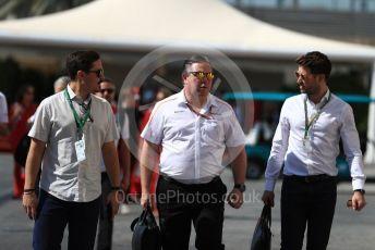 World © Octane Photographic Ltd. Formula 1 - Abu Dhabi GP - Paddock. Zak Brown - Executive Director of McLaren Technology Group. Yas Marina Circuit, Abu Dhabi. Friday 23rd November 2018.