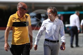 World © Octane Photographic Ltd. Formula 1 – Abu Dhabi GP - Paddock. Alain Prost. Yas Marina Circuit, Abu Dhabi. Friday 23rd November 2018.