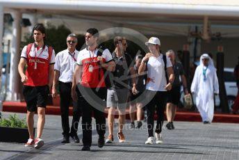 World © Octane Photographic Ltd. Formula 1 – Abu Dhabi GP - Paddock. Alfa Romeo Sauber F1 Team C37 – Antonio Giovinazzi. Yas Marina Circuit, Abu Dhabi. Friday 23rd November 2018.