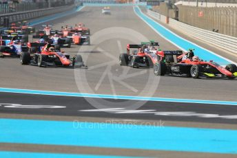 World © Octane Photographic Ltd. GP3 – Abu Dhabi GP – Race 1. Race Start. Yas Marina Circuit, Abu Dhabi. Saturday 24th November 2018.