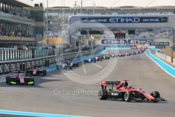 World © Octane Photographic Ltd. GP3 – Abu Dhabi GP – Race 1. Lap 2. Yas Marina Circuit, Abu Dhabi. Saturday 24th November 2018.