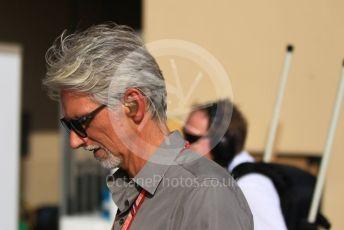 World © Octane Photographic Ltd. Formula 1 –  Abu Dhabi GP - Paddock. Damon Hill. Yas Marina Circuit, Abu Dhabi. Sunday 25th November 2018.