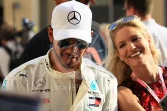 World © Octane Photographic Ltd. Formula 1 – Abu Dhabi GP - Paddock. Mercedes AMG Petronas Motorsport AMG F1 W09 EQ Power+ - Lewis Hamilton. Yas Marina Circuit, Abu Dhabi. Sunday 25th November 2018.