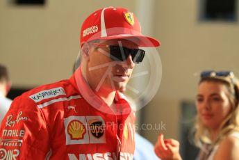 World © Octane Photographic Ltd. Formula 1 –  Abu Dhabi GP - Paddock. Scuderia Ferrari SF71-H – Kimi Raikkonen. Yas Marina Circuit, Abu Dhabi. Sunday 25th November 2018.