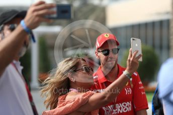 World © Octane Photographic Ltd. Formula 1 – Abu Dhabi GP - Paddock. Scuderia Ferrari SF71-H – Sebastian Vettel. Yas Marina Circuit, Abu Dhabi. Sunday 25th November 2018.