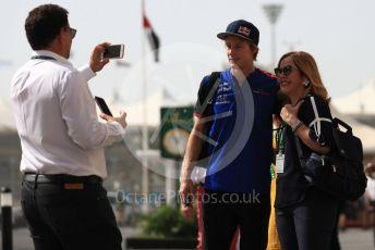 World © Octane Photographic Ltd. Formula 1 –  Abu Dhabi GP - Paddock. Scuderia Toro Rosso STR13 – Brendon Hartley. Yas Marina Circuit, Abu Dhabi. Sunday 25th November 2018.