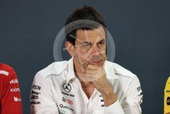 World © Octane Photographic Ltd. Formula 1 - United States GP - Friday FIA Team Press Conference. Toto Wolff - Executive Director & Head of Mercedes - Benz Motorsport. Yas Marina Circuit, Abu Dhabi. Friday 23rd November 2018.