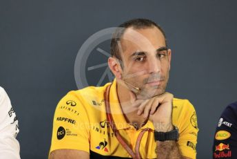 World © Octane Photographic Ltd. Formula 1 - United States GP - Friday FIA Team Press Conference. Cyril Abiteboul - Managing Director of Renault Sport Racing Formula 1 Team. Yas Marina Circuit, Abu Dhabi. Friday 23rd November 2018.