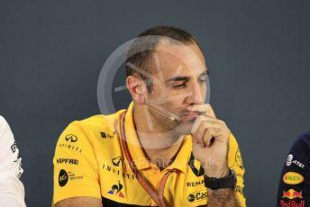 World © Octane Photographic Ltd. Formula 1 - United States GP - Friday FIA Team Press Conference. Cyril Abiteboul - Managing Director of Renault Sport Racing Formula 1 Team. Yas Marina Circuit, Abu Dhabi. Friday 23rd November 2018.