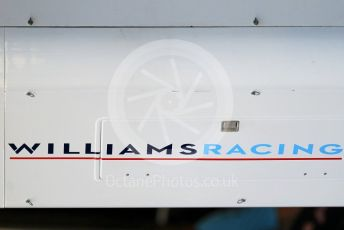 World © Octane Photographic Ltd. Formula 1 –  Abu Dhabi GP - Paddock. Williams Martini Racing FW41. Yas Marina Circuit, Abu Dhabi. Thursday 22nd November 2018.