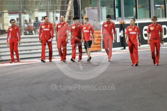 World © Octane Photographic Ltd. Formula 1 –  Abu Dhabi GP - Track Walk. Scuderia Ferrari SF71-H – Sebastian Vettel. Yas Marina Circuit, Abu Dhabi. Thursday 22nd November 2018.