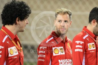 World © Octane Photographic Ltd. Formula 1 – Abu Dhabi GP - Track Walk. Scuderia Ferrari SF71-H – Sebastian Vettel. Yas Marina Circuit, Abu Dhabi. Thursday 22nd November 2018.