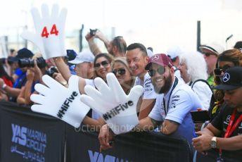 World © Octane Photographic Ltd. Formula 1 – Abu Dhabi GP - Paddock. Mercedes AMG Petronas Motorsport AMG F1 W09 EQ Power+ - Lewis Hamilton fans. Yas Marina Circuit, Abu Dhabi. Thursday 22nd November 2018.