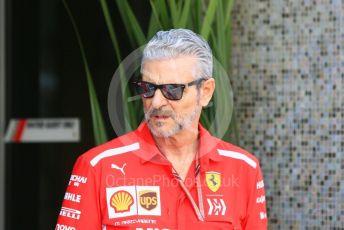 World © Octane Photographic Ltd. Formula 1 - Abu Dhabi GP - Paddock. Maurizio Arrivabene – Managing Director and Team Principal of Scuderia Ferrari. Yas Marina Circuit, Abu Dhabi. Thursday 22nd November 2018.