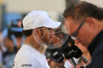 World © Octane Photographic Ltd. Formula 1 – Abu Dhabi GP - Paddock. Mercedes AMG Petronas Motorsport AMG F1 W09 EQ Power+ - Lewis Hamilton. Yas Marina Circuit, Abu Dhabi. Thursday 22nd November 2018.