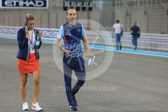 World © Octane Photographic Ltd. Formula 1 –  Abu Dhabi GP - Track Walk. Williams Martini Racing FW41 – Robert Kubica. Yas Marina Circuit, Abu Dhabi. Thursday 22nd November 2018.