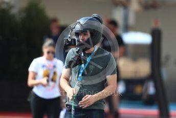 World © Octane Photographic Ltd. Formula 1 - Abu Dhabi GP - Paddock. Helmet cam in the paddock. Yas Marina Circuit, Abu Dhabi. Thursday 22nd November 2018.