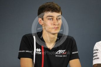 World © Octane Photographic Ltd. Formula 1 – Abu Dhabi GP - FIA Drivers' Press Conference. George Russell - 2019 Williams Driver. Yas Marina Circuit, Abu Dhabi. Thursday 22nd November 2018.