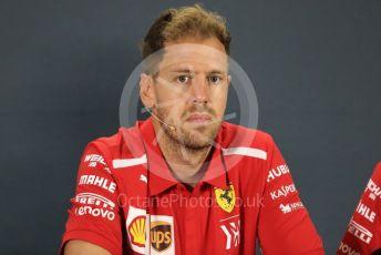 World © Octane Photographic Ltd. Formula 1 – Abu Dhabi GP - FIA Drivers' Press Conference. Scuderia Ferrari – Sebastian Vettel. Yas Marina Circuit, Abu Dhabi. Thursday 22nd November 2018.