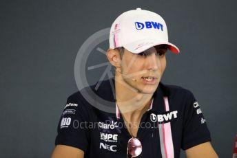 World © Octane Photographic Ltd. Formula 1 – Abu Dhabi GP - FIA Drivers' Press Conference. Racing Point Force India - Esteban Ocon. Yas Marina Circuit, Abu Dhabi. Thursday 22nd November 2018.