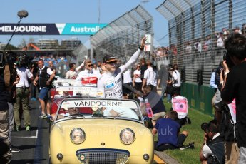 World © Octane Photographic Ltd. Formula 1 – Australian GP - Drivers' Parade. McLaren MCL33 – Stoffel Vandoorne. Albert Park, Melbourne, Australia. Sunday 25th March 2018.