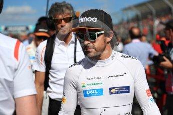 World © Octane Photographic Ltd. Formula 1 – Australian GP - Grid. McLaren MCL33 – Fernando Alonso. Albert Park, Melbourne, Australia. Sunday 25th March 2018.