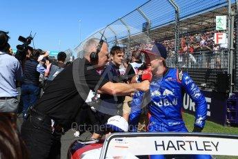 World © Octane Photographic Ltd. Formula 1 – Australian GP - Drivers' Parade. Scuderia Toro Rosso STR13 – Brendon Hartley. Albert Park, Melbourne, Australia. Sunday 25th March 2018.