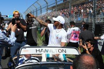 World © Octane Photographic Ltd. Formula 1 – Australian GP - Drivers' Parade. Mercedes AMG Petronas Motorsport AMG F1 W09 EQ Power+ - Lewis Hamilton. Albert Park, Melbourne, Australia. Sunday 25th March 2018.