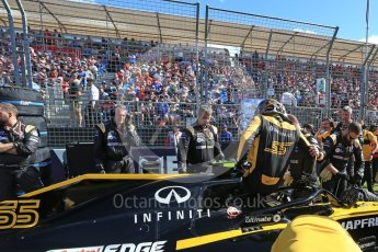 World © Octane Photographic Ltd. Formula 1 – Australian GP - Grid. Renault Sport F1 Team RS18 – Carlos Sainz. Albert Park, Melbourne, Australia. Sunday 25th March 2018.