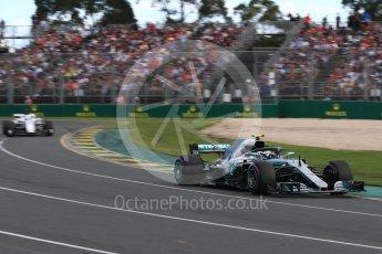 World © Octane Photographic Ltd. Formula 1 – Australian GP - Race. Mercedes AMG Petronas Motorsport AMG F1 W09 EQ Power+ - Valtteri Bottas. Albert Park, Melbourne, Australia. Sunday 25th March 2018.