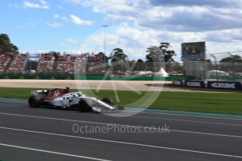 World © Octane Photographic Ltd. Formula 1 – Australian GP - Race. Alfa Romeo Sauber F1 Team C37 – Marcus Ericsson. Albert Park, Melbourne, Australia. Sunday 25th March 2018.