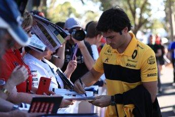 World © Octane Photographic Ltd. Formula 1 – Australian GP - Friday Melbourne Walk. Renault Sport F1 Team RS18 – Carlos Sainz. Albert Park, Melbourne, Australia. Friday 23rd March 2018.