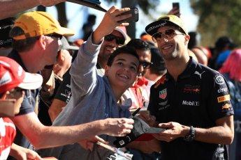 World © Octane Photographic Ltd. Formula 1 – Australian GP - Friday Melbourne Walk. Aston Martin Red Bull Racing TAG Heuer RB14 – Daniel Ricciardo. Albert Park, Melbourne, Australia. Friday 23rd March 2018.