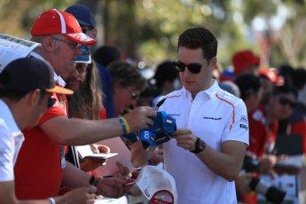 World © Octane Photographic Ltd. Formula 1 – Australian GP - Friday Melbourne Walk. McLaren MCL33 – Stoffel Vandoorne. Albert Park, Melbourne, Australia. Friday 23rd March 2018.