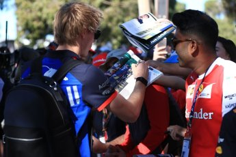 World © Octane Photographic Ltd. Formula 1 – Australian GP - Friday Melbourne Walk. Scuderia Toro Rosso STR13 – Brendon Hartley. Albert Park, Melbourne, Australia. Friday 23rd March 2018.