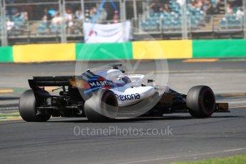 World © Octane Photographic Ltd. Formula 1 – Australian GP - Friday Practice 2. Williams Martini Racing FW41 – Sergey Sirotkin. Albert Park, Melbourne, Australia. Friday 23rd March 2018.