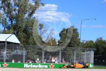 World © Octane Photographic Ltd. Formula 1 – Australian GP - Friday Practice 2. McLaren MCL33 – Fernando Alonso. Albert Park, Melbourne, Australia. Friday 23rd March 2018.