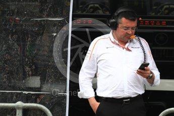 World © Octane Photographic Ltd. Formula 1 - Australian GP - Practice 3. Eric Boullier - Racing Director of McLaren. Albert Park, Melbourne, Australia. Saturday 24th March 2018.
